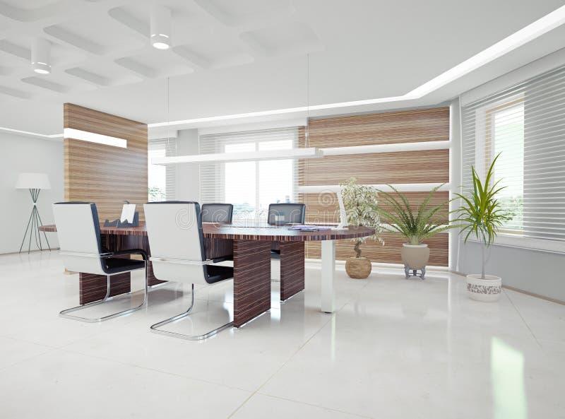 现代办公室内部 库存例证