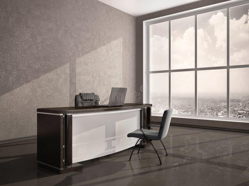 现代办公桌的例证 库存例证