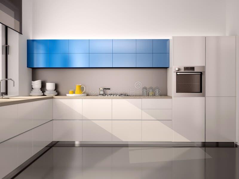 现代厨房内部的例证  库存例证