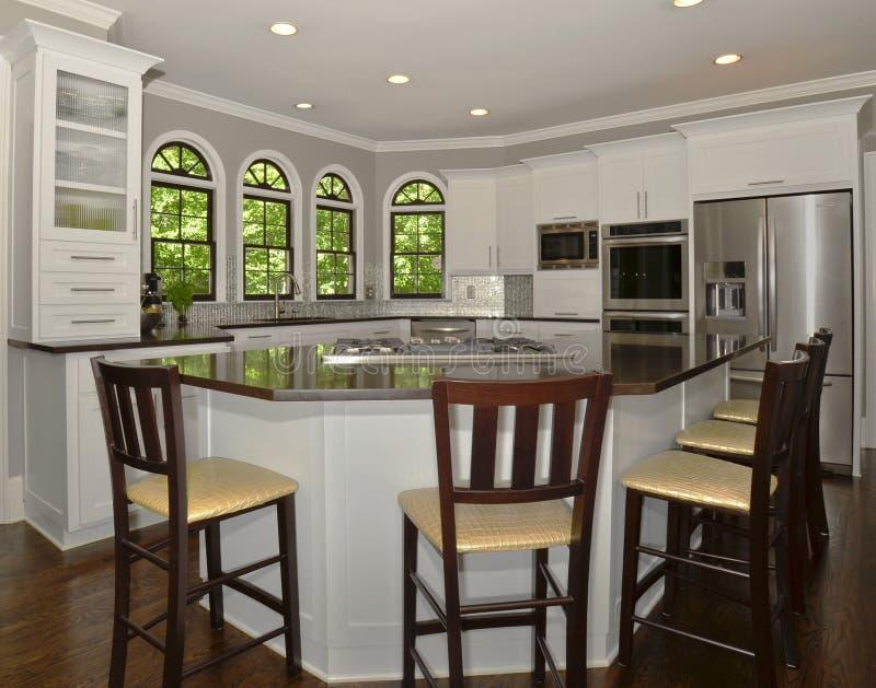 现代厨房区域 免版税库存照片
