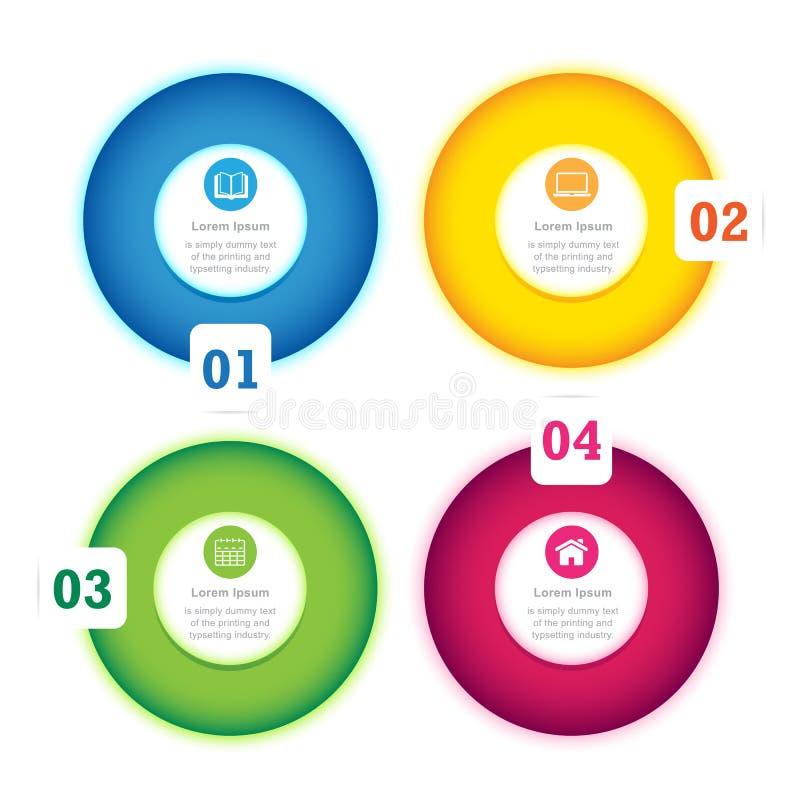 现代圈子设计完整色彩的模板 向量例证
