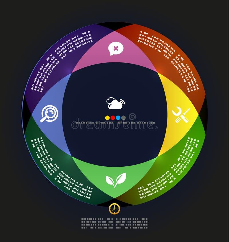 现代圈子infographic最小的设计模板 皇族释放例证