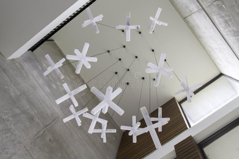 现代垂悬的灯 免版税库存图片