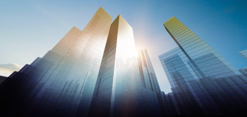 现代城市想法 免版税库存照片
