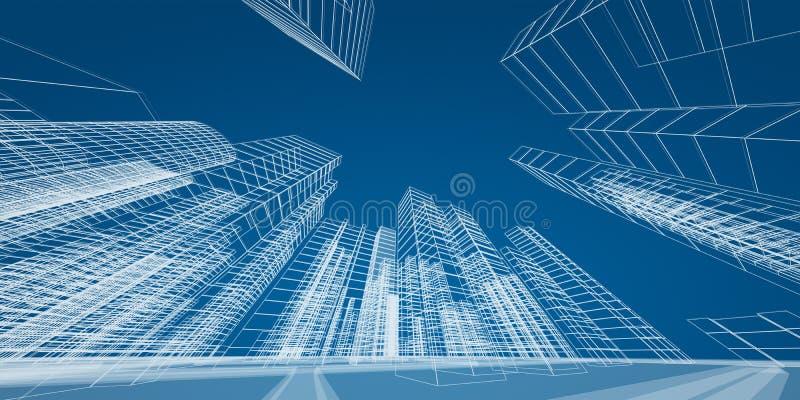 现代城市概念 向量例证