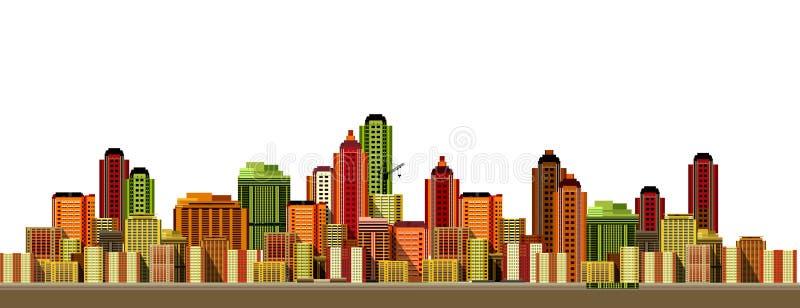 现代城市的横向 库存例证