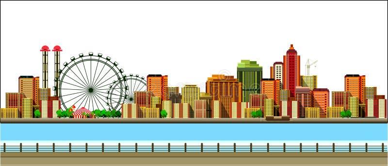 现代城市的横向 向量例证