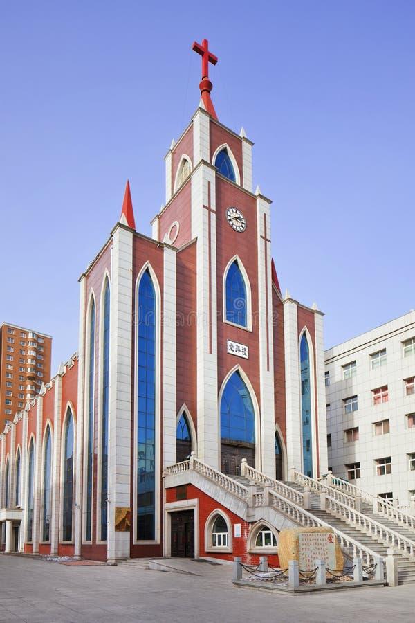 现代基督教会,长春,中国 免版税库存照片