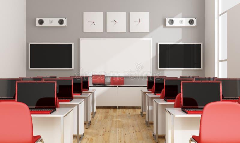 现代多媒体教室 库存例证