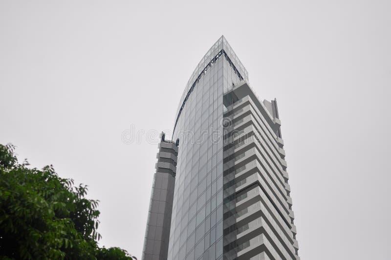 现代大厦冠 图库摄影
