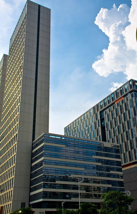 现代大厦在广州市 库存图片