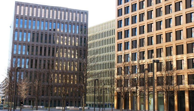 现代大厦在正义城市 库存照片