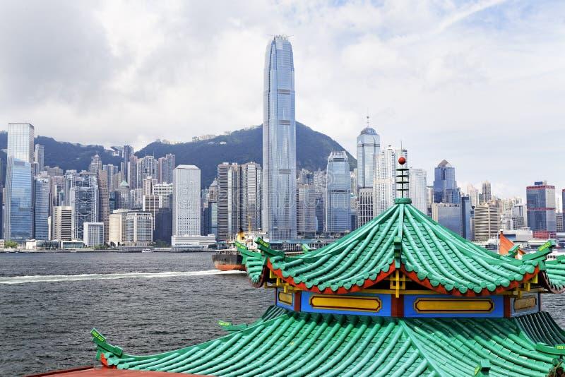 现代大厦在香港财务区 免版税库存照片