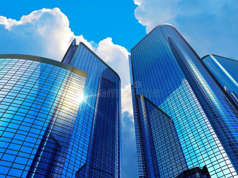 现代大厦的商业 库存例证