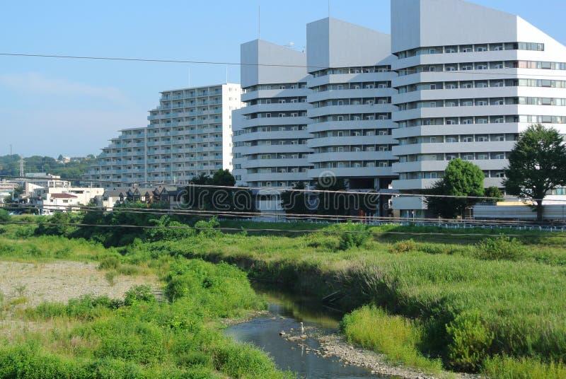 现代大厦Hachoji日本 库存照片