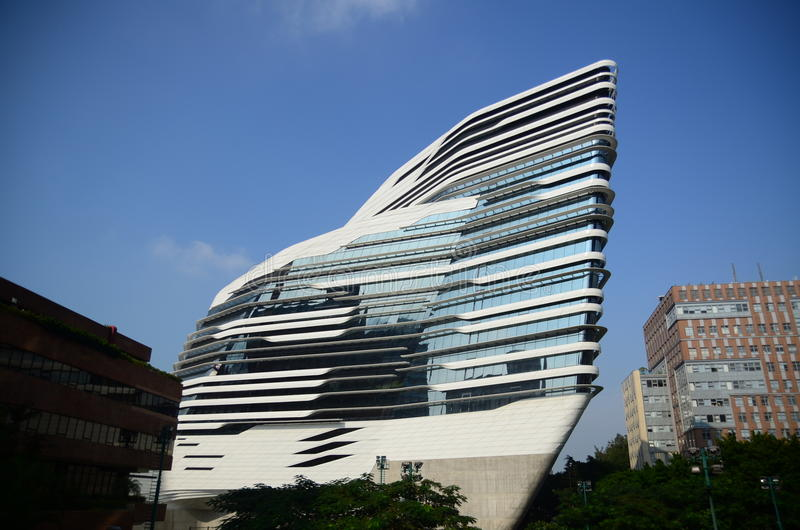 现代大学大厦在香港 免版税库存照片
