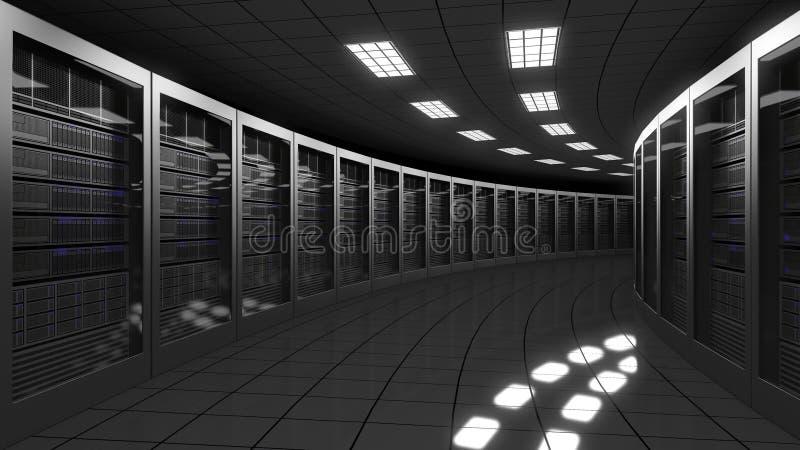 现代大数据中心服务器 3d翻译 向量例证