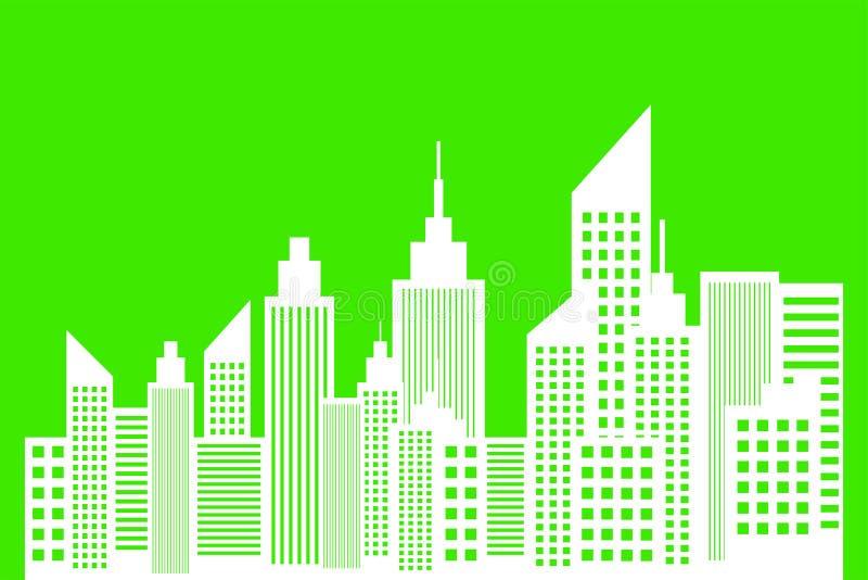 现代大都会的生态概念 库存例证