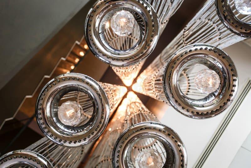 现代天花板照明设备 免版税库存照片