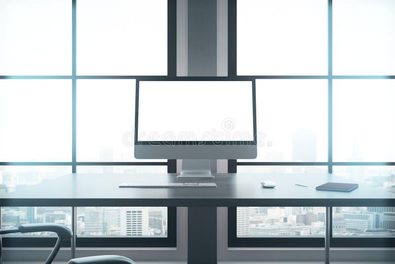 现代工作场所特写镜头 库存例证