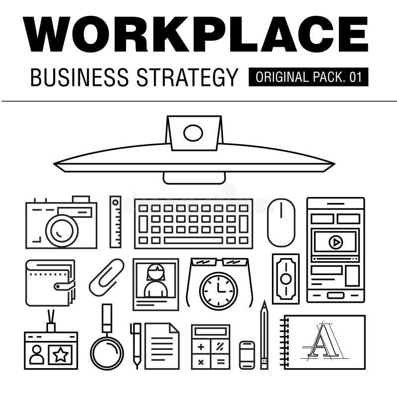现代工作场所经营战略 库存例证