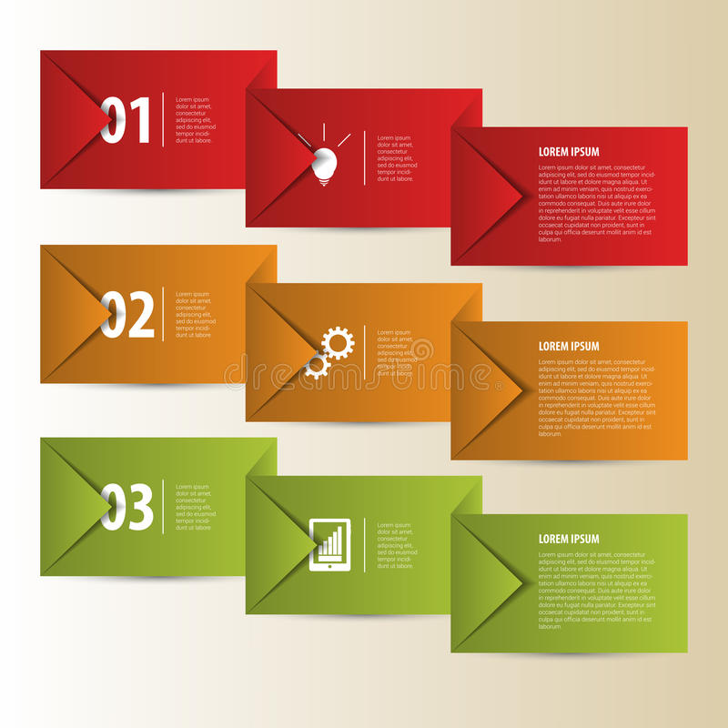 现代工商业票据裁减infographics元素 向量 向量例证