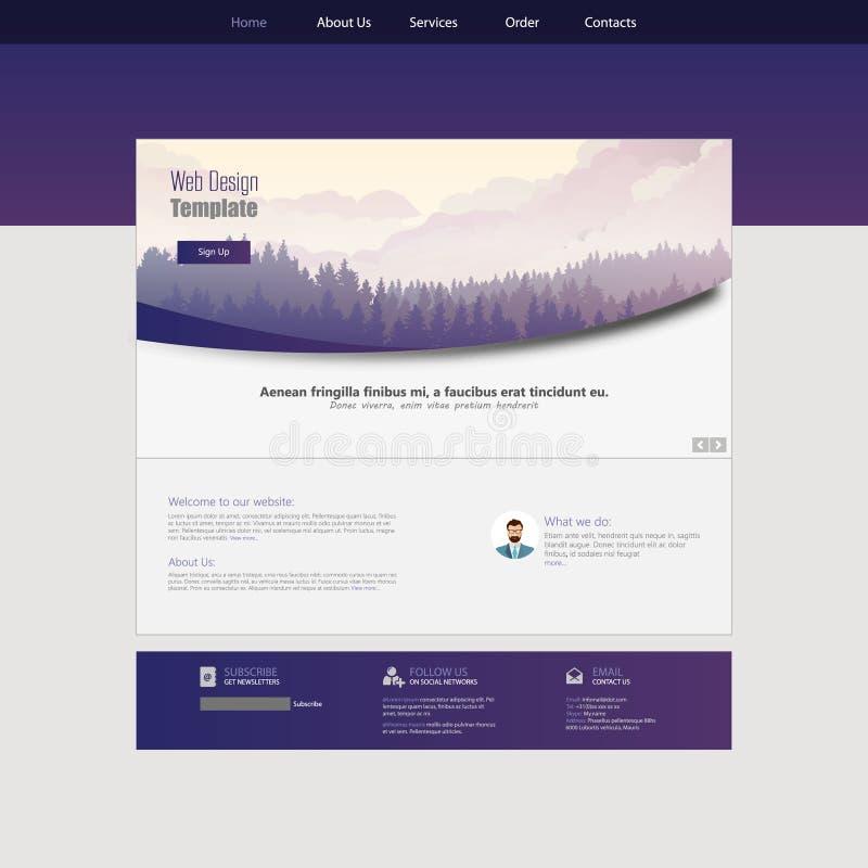 现代平的样式网站设计观念 传染媒介EPS 10 库存例证