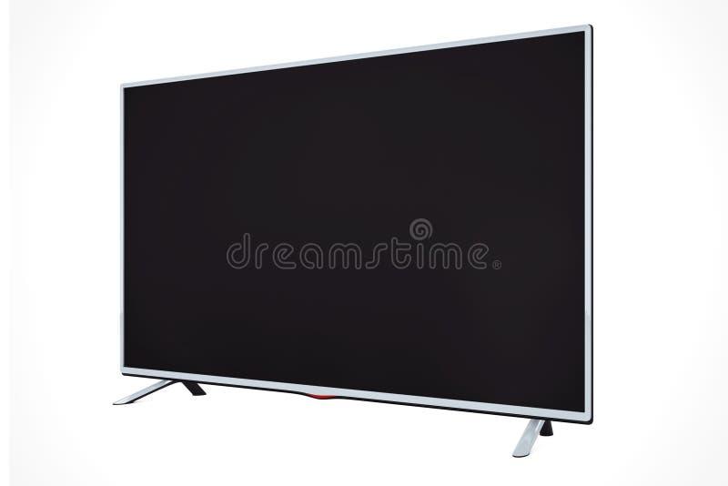 现代平的被带领的或Lcd电视 3d翻译 皇族释放例证