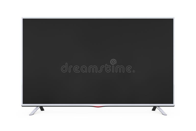 现代平的被带领的或Lcd电视 3d翻译 库存例证