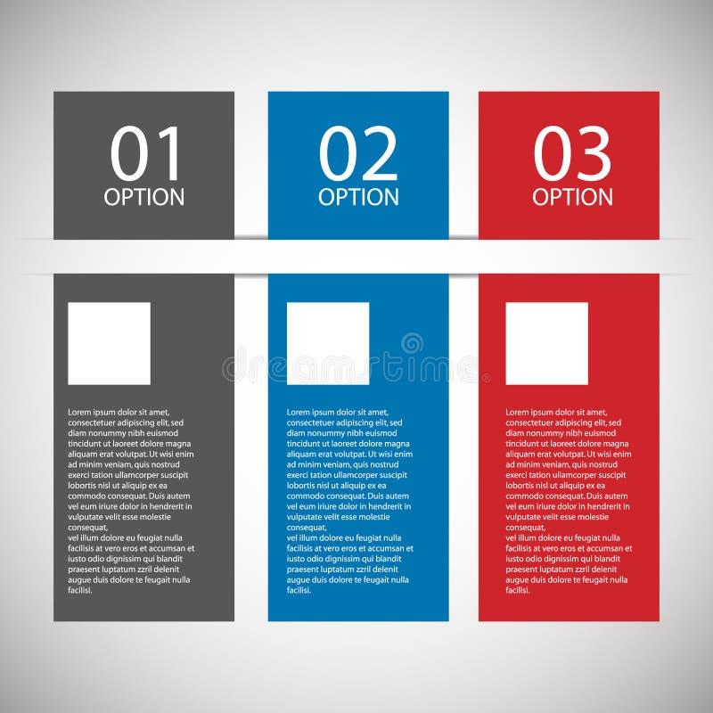 现代平的设计模板 库存例证