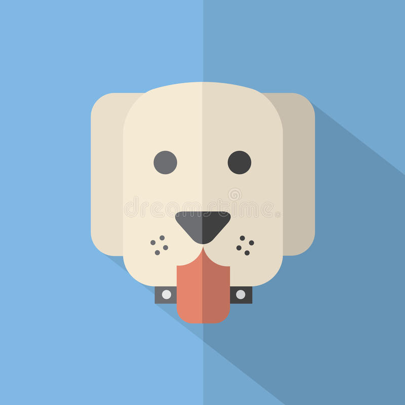 现代平的设计狗象 向量例证