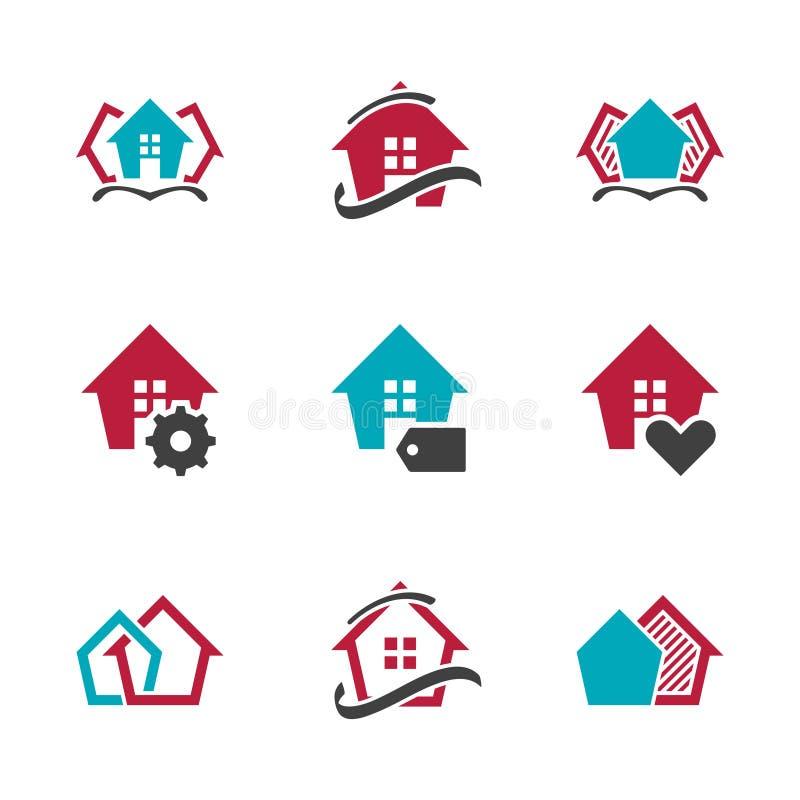 现代房地产标志家传染媒介设计标志议院传染媒介象 EPS10 皇族释放例证
