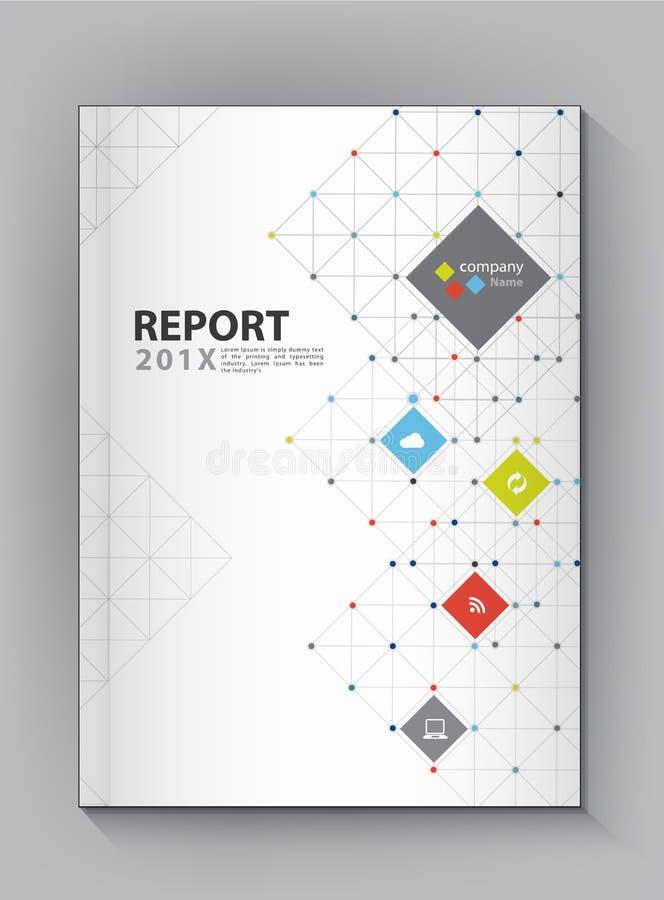 现代年终报告盖子设计传染媒介小点技术 向量例证