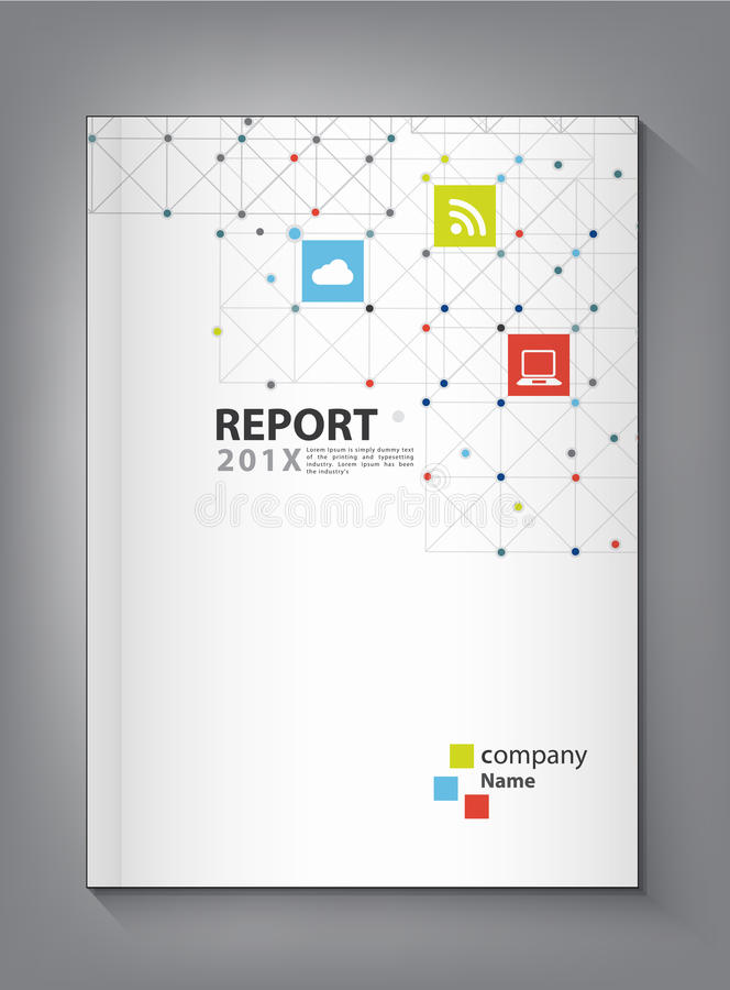 现代年终报告盖子设计传染媒介小点技术 库存例证