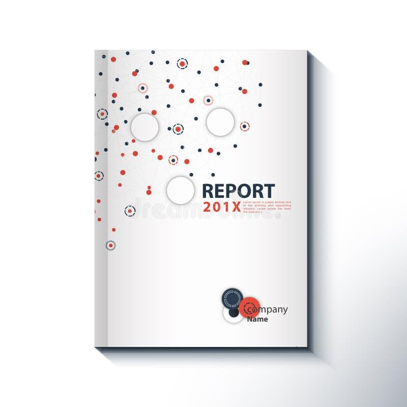 现代年终报告盖子设计传染媒介概念 向量例证