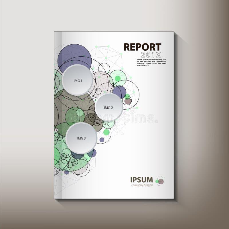 现代年终报告盖子设计传染媒介概念 库存例证