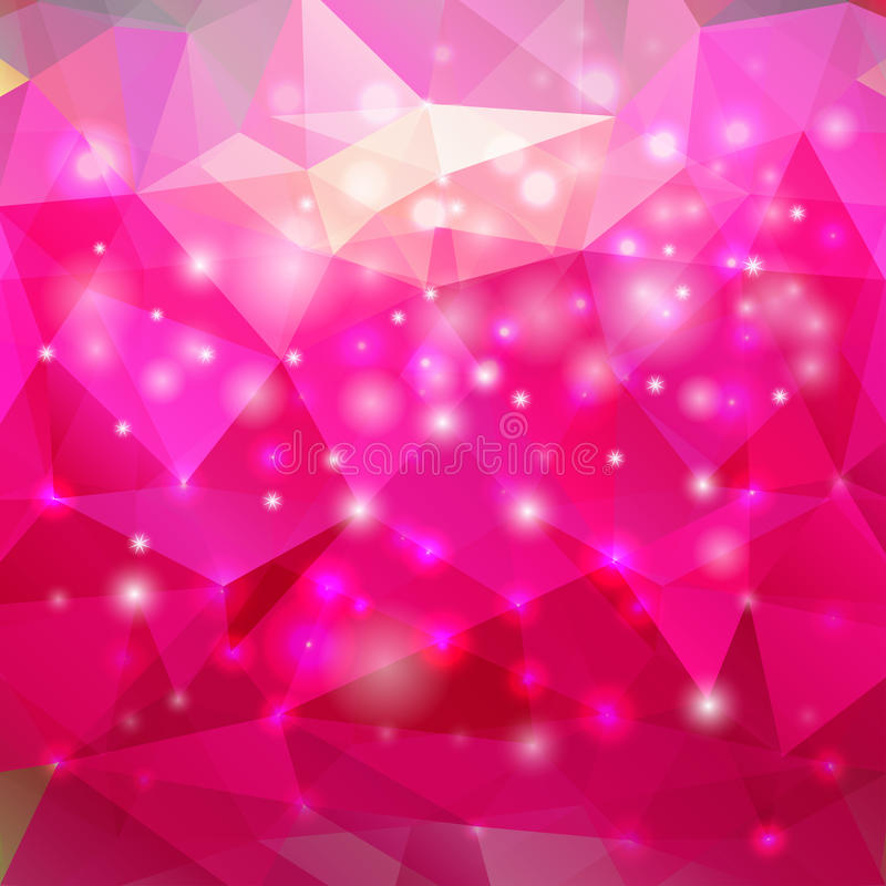 现代抽象多角形桃红色背景 皇族释放例证