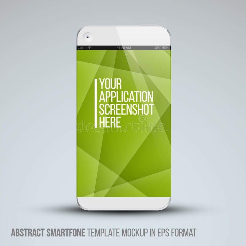 现代抽象手机模板 向量例证