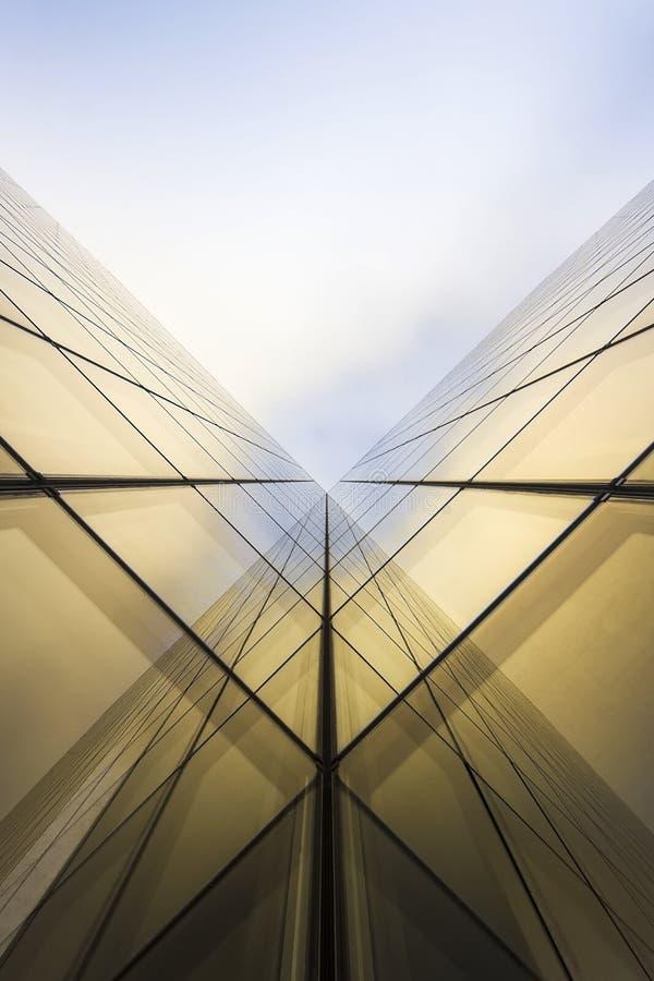现代抽象的大厦 免版税库存图片