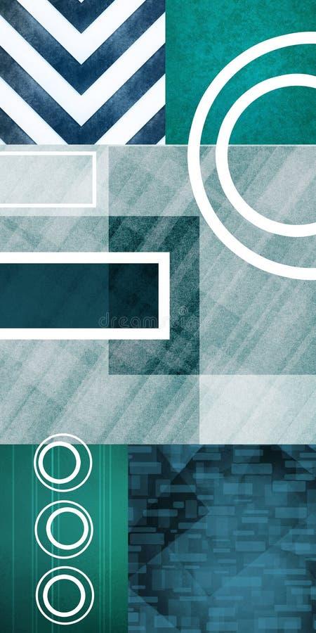 现代抽象派的背景 向量例证
