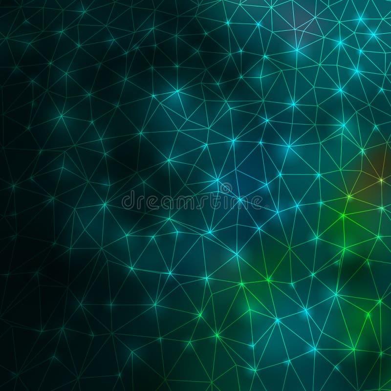 现代抽象3d几何的线。EPS 10 皇族释放例证