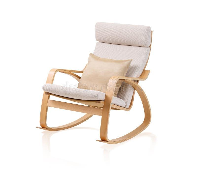 现代摇椅和坐垫 免版税图库摄影
