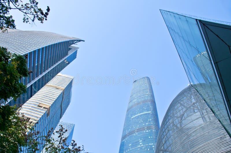 现代摩天大楼在广州 库存图片