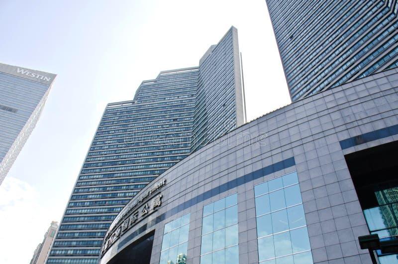 现代摩天大楼在广州 免版税库存照片