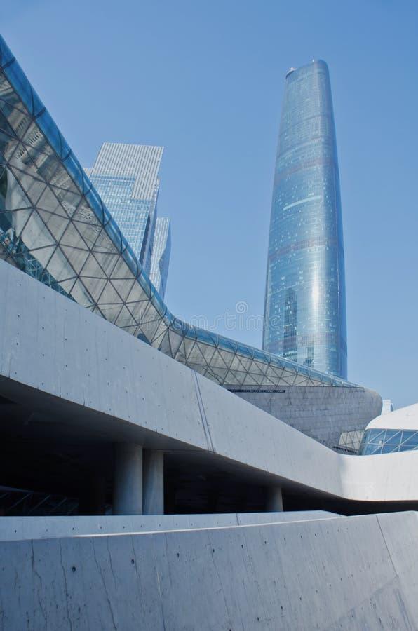 现代摩天大楼在广州 库存照片