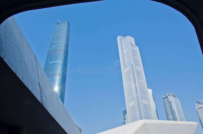 现代摩天大楼在广州 免版税库存图片