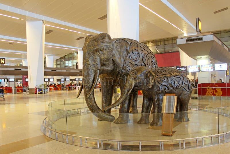 现代新德里国际机场 免版税图库摄影