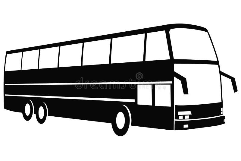 现代旅行公共汽车 库存图片