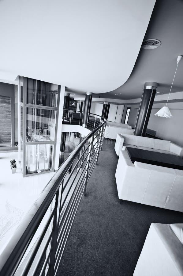 现代旅馆大厅 免版税库存图片