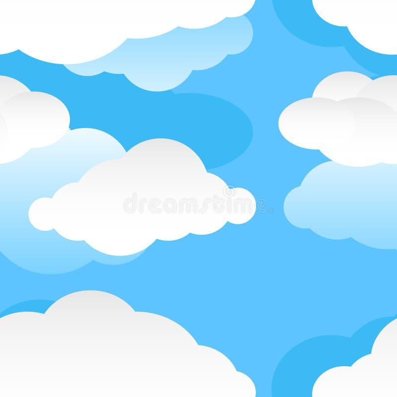 现代无缝的云彩样式 库存例证